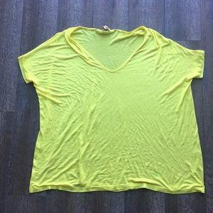 PIKO 1988 yellow vneck oversized tshirt small
